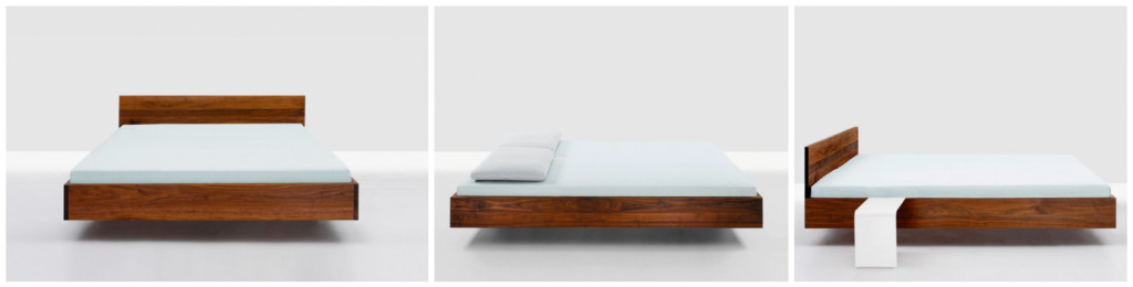 1 Designbed massief hout