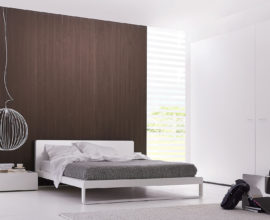 design bed in wit hoogglans lak