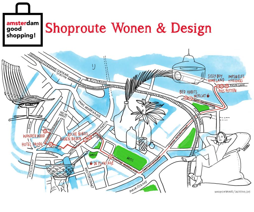 shoproute wonen & Design Amsterdam