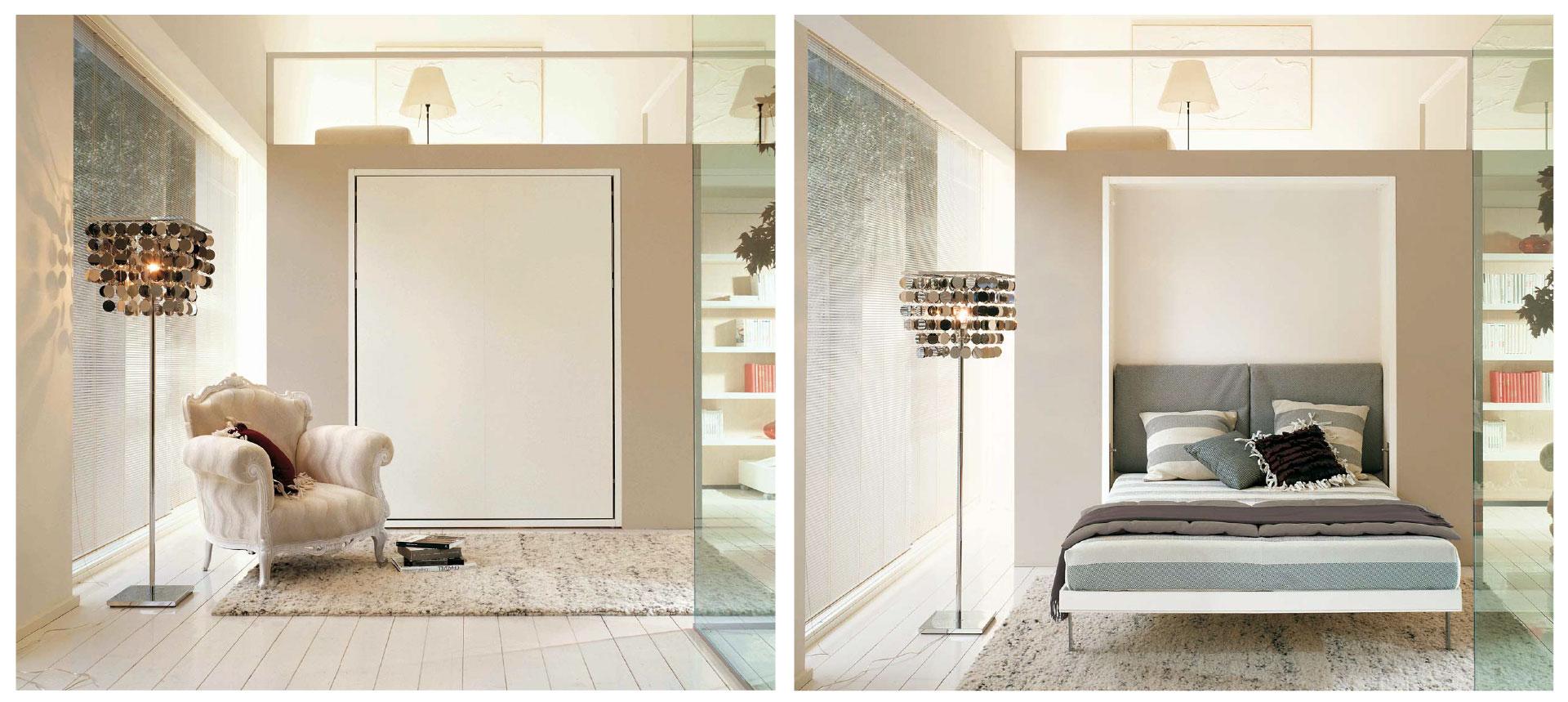 Een wandbed; d u00e9 oplossing voor kleine ruimtes   SLAAPKAMER DESIGN