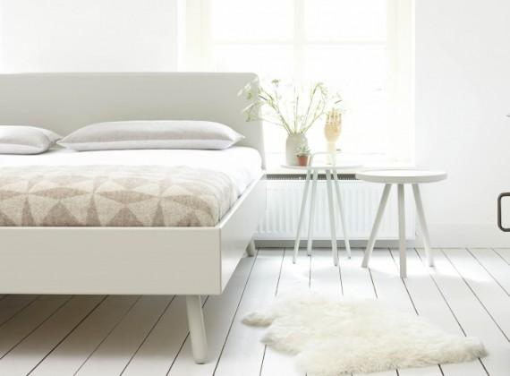 design bedombouw in een lichte lakkleur (Bed Habits)