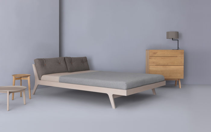 houten design bed Mellow