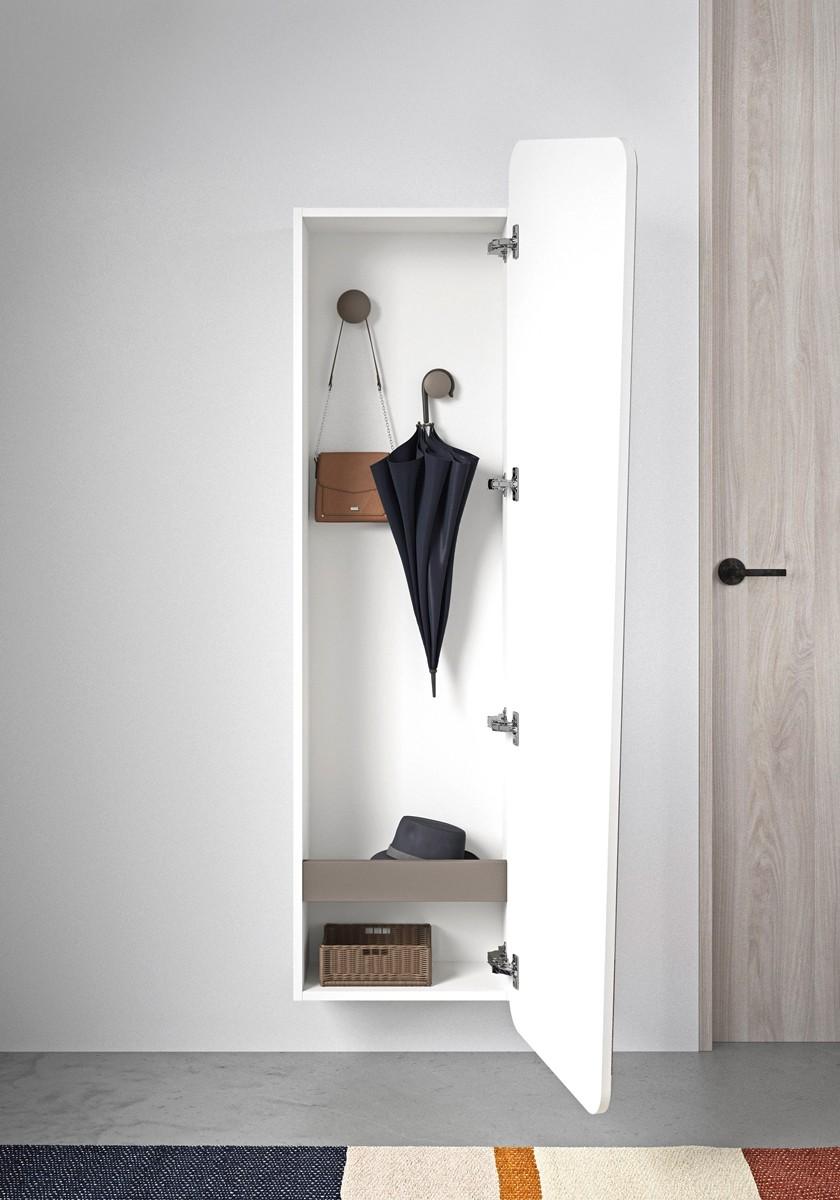Inbouwkast met spiegeldeur